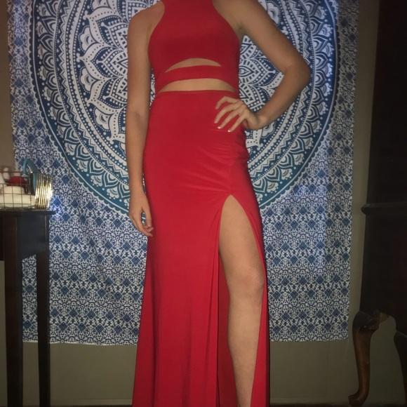Dillard's Red Formal Dress